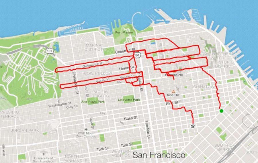 عداء ليني موغان أيدي تمسك أعواد الأكل |  عداء سان فرانسيسكو يبتكر الفن فقط من خلال الركض في الأرجاء |  التوت الدماغ