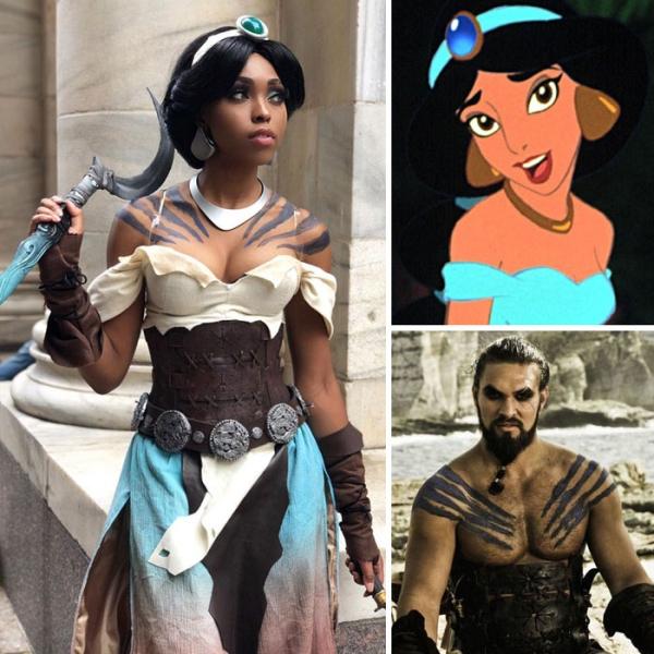 Jasmine x Khal Drogo   15 Astounding Cosplay Transformations of CutiePieSensei   Brain Berries