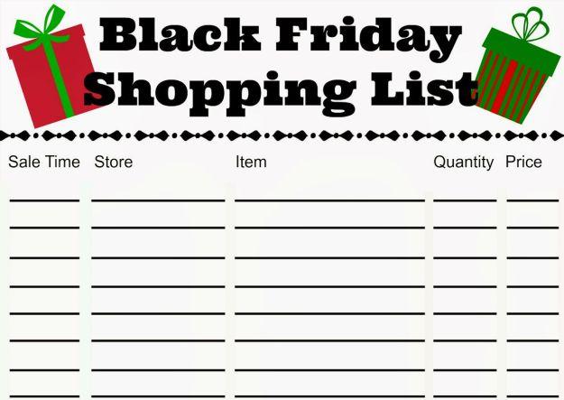 Prepare the list | 6 Simple Steps To Survive Black Friday | BrainBerries
