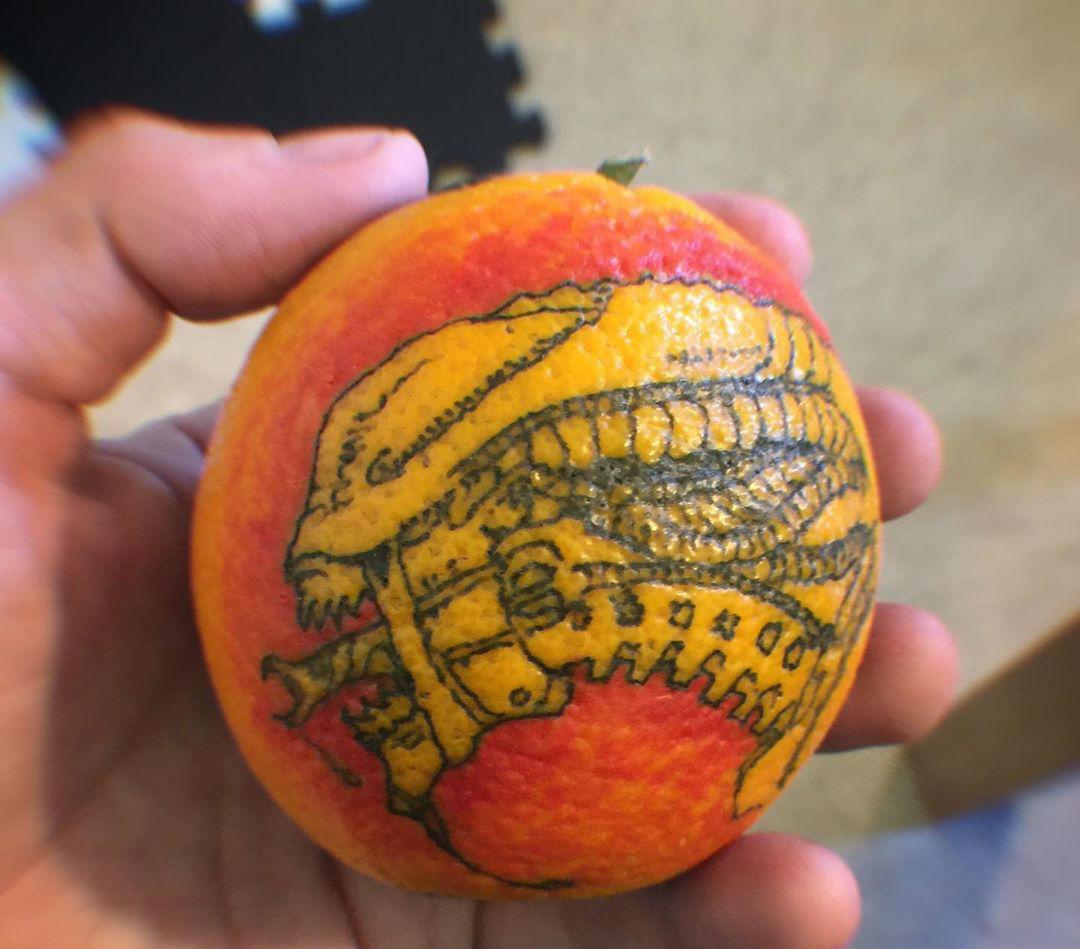 # 9    هل تحبير البرتقال اتجاه جديد لفن الوشم؟     التوت الدماغ