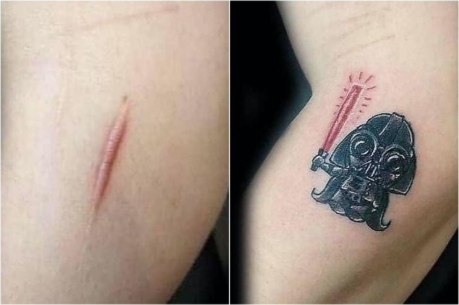 15 Creative Scar Tattoo Cover Ups #2 | Brain Berries