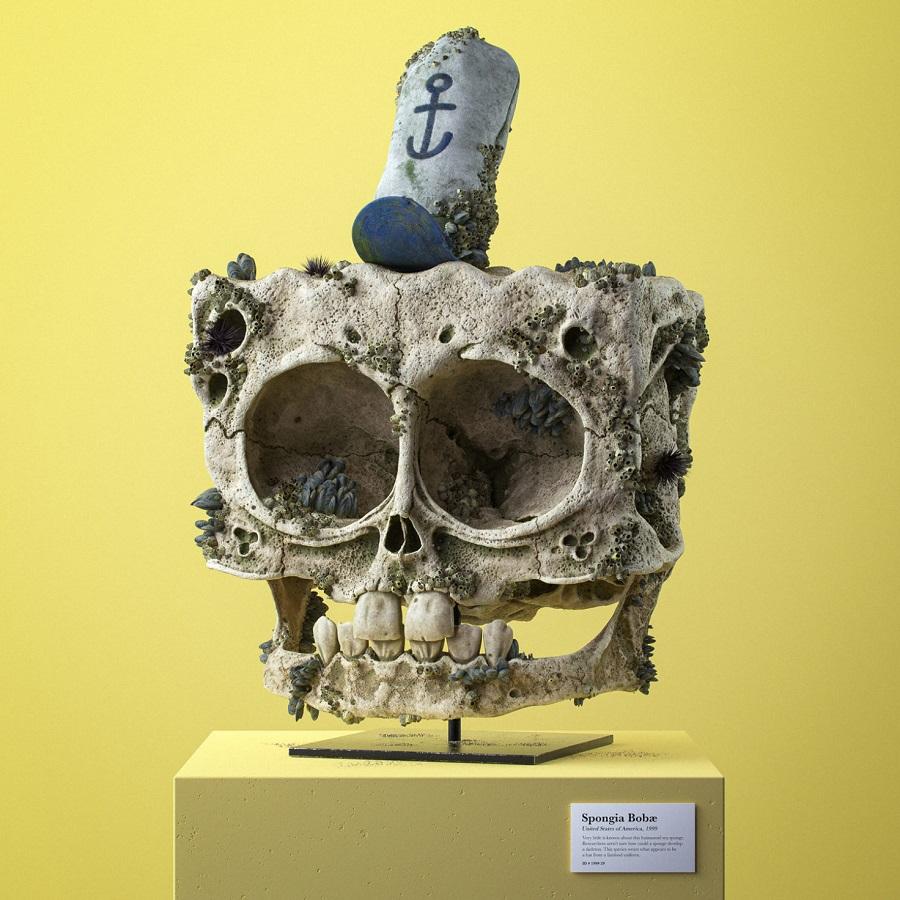 Spongia Bobæ - SHBA, 1999 |  Kafkat e fosilizuara të personazheve tanë të dashur vizatimor |  Zestradar