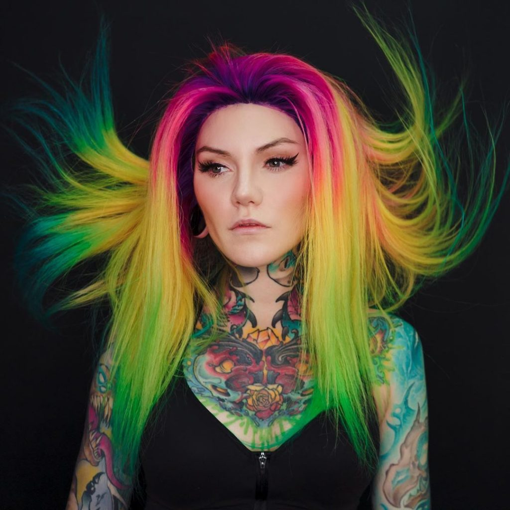 Super-Expressive Rainbow Hairstyles By Snegga | Brain Berries