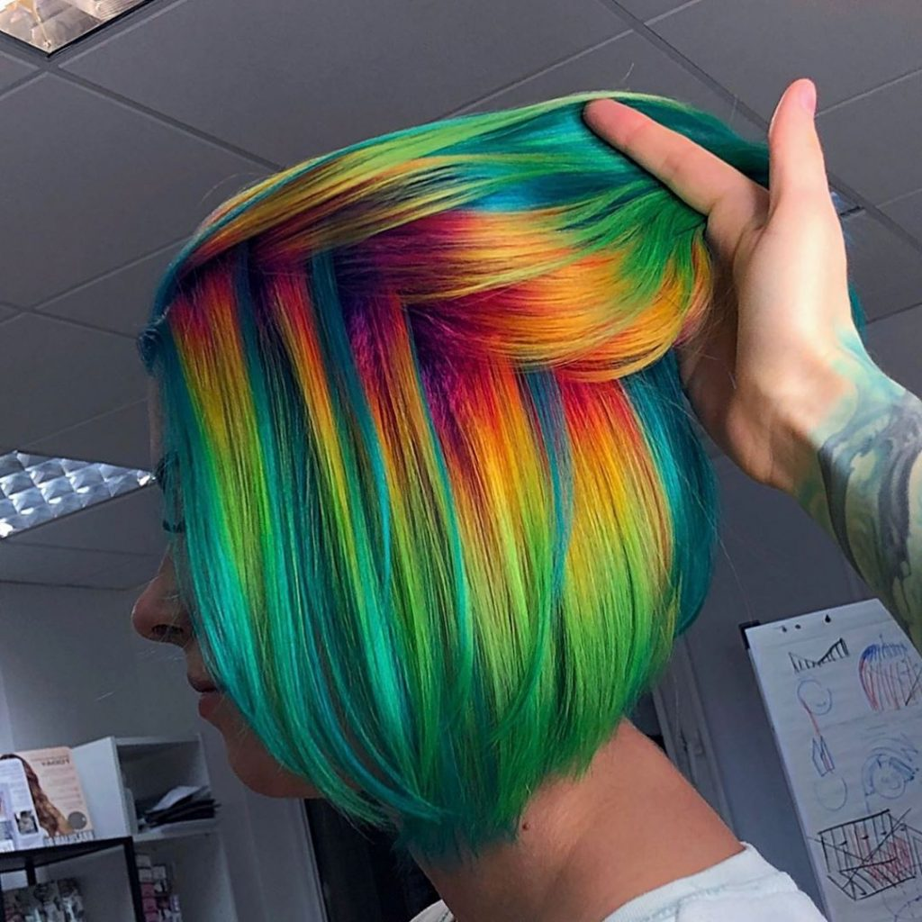 Super-Expressive Rainbow Hairstyles By Snegga #8 | Brain Berries