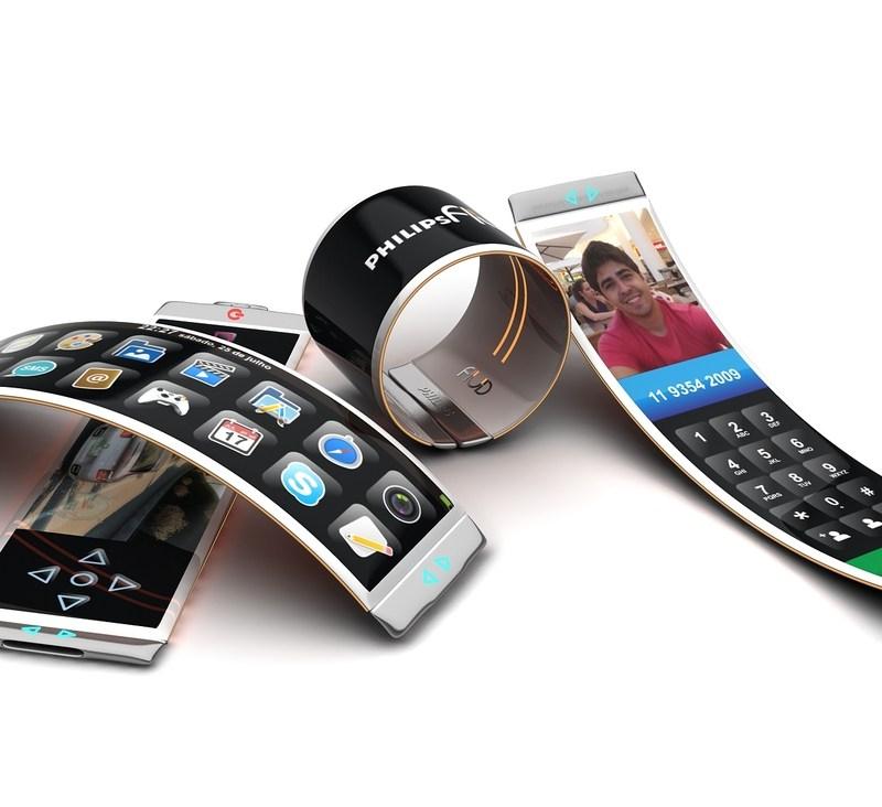 Transparent flexible phones