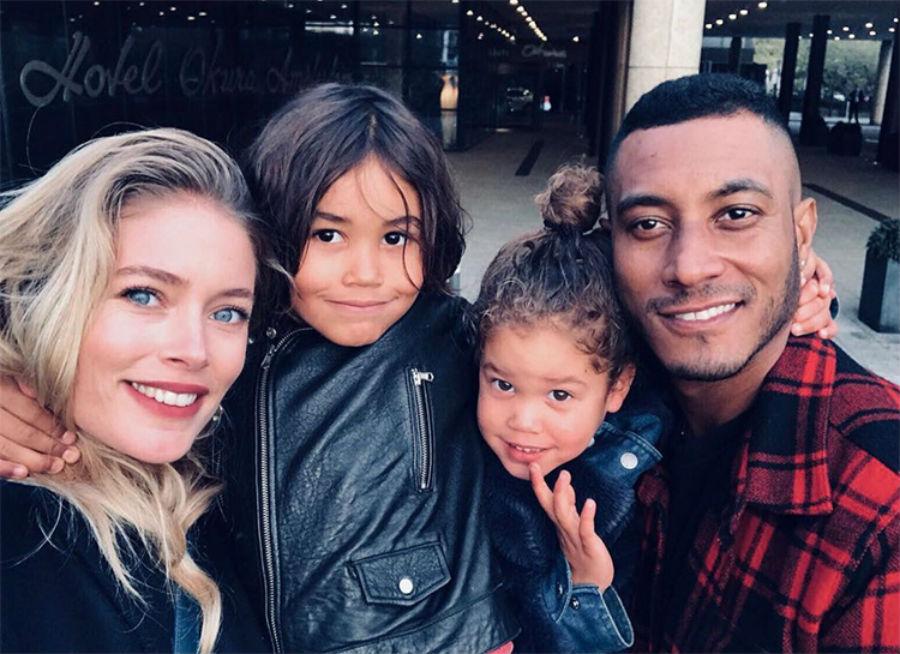 Даутцен Крус с сыном Филленом и дочкой Милленой | Her Beauty