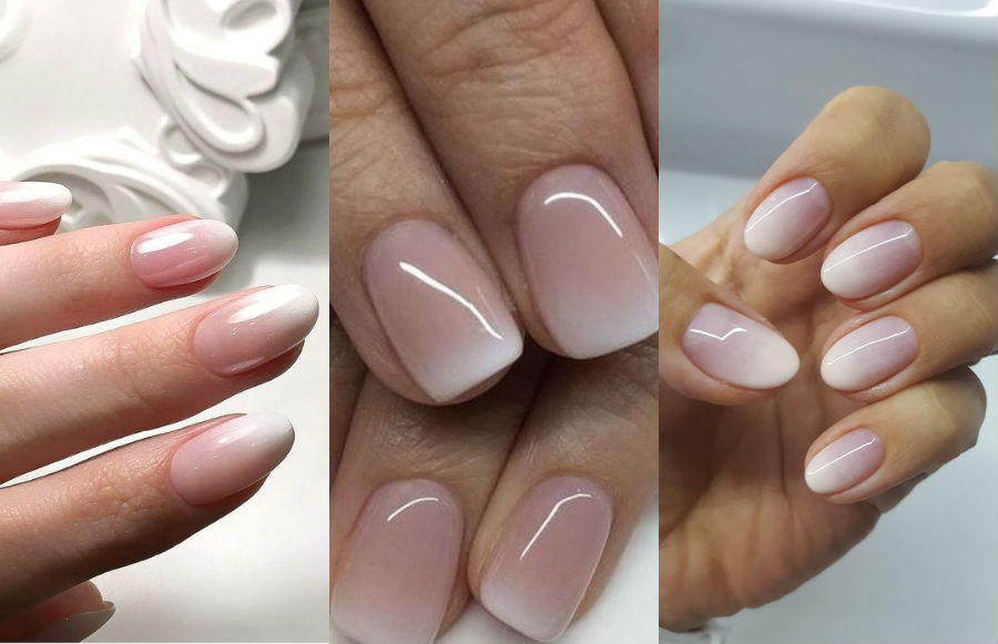Ombre French Manicure | 8 Fresh French Manicure Design Ideas | Her Beauty