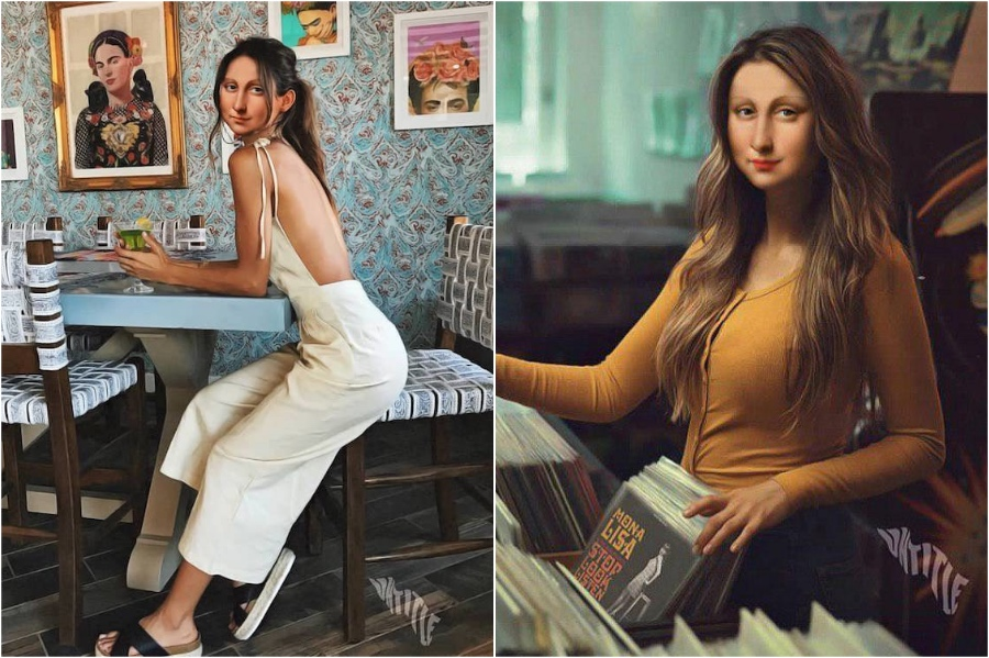 Mona Lisa in  Instagrammable cafes | Mona Lisa Reimagined In The Modern World Excerpt | Her Beauty