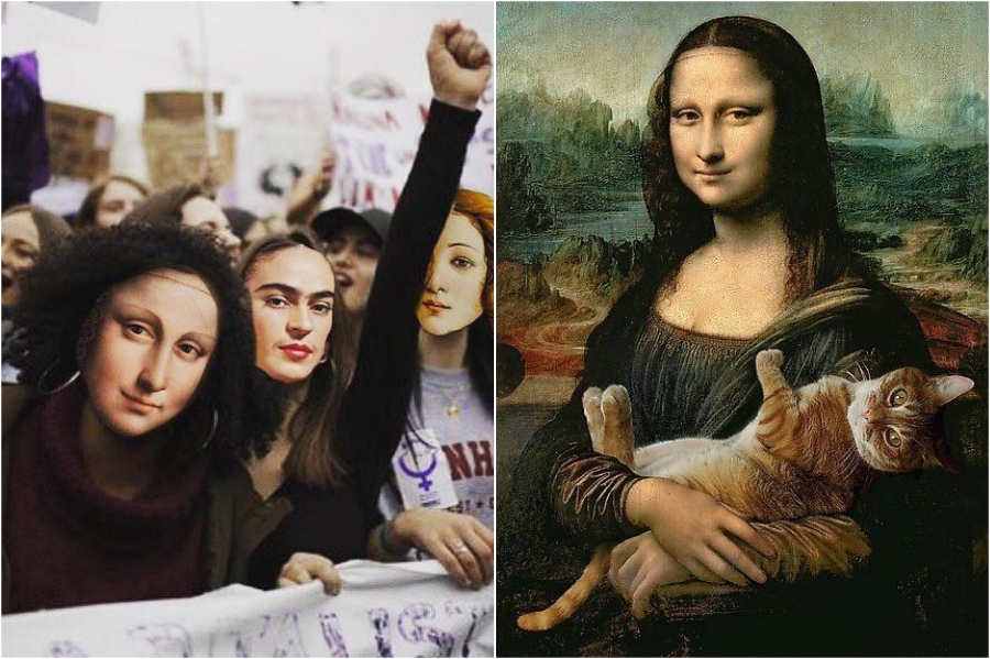 Mona Lisa on equality marches | Mona Lisa Reimagined In The Modern World Excerpt | Her Beauty