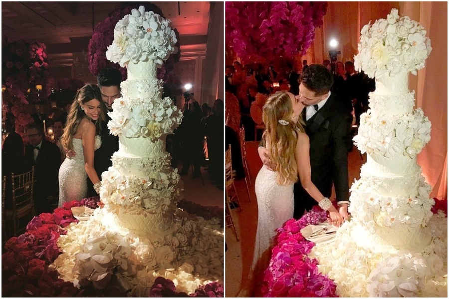 Sofía Vergara And Joe Manganiello cake – $50,000 | 8 of the World's Most Stunning (and Expensive) Wedding Cakes | Her Beauty