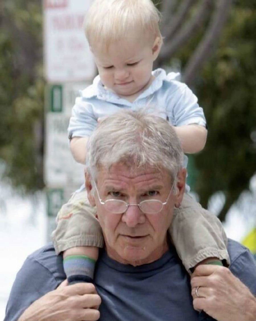 Harrison Ford | 12 Celebrity Grandpas With Their Grandchildren Will Melt Your Heart | Her Beauty