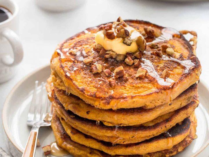 Pumpkin Pancakes | 12Healthy Pumpkin Recipes Perfect for Fall | Her Beauty