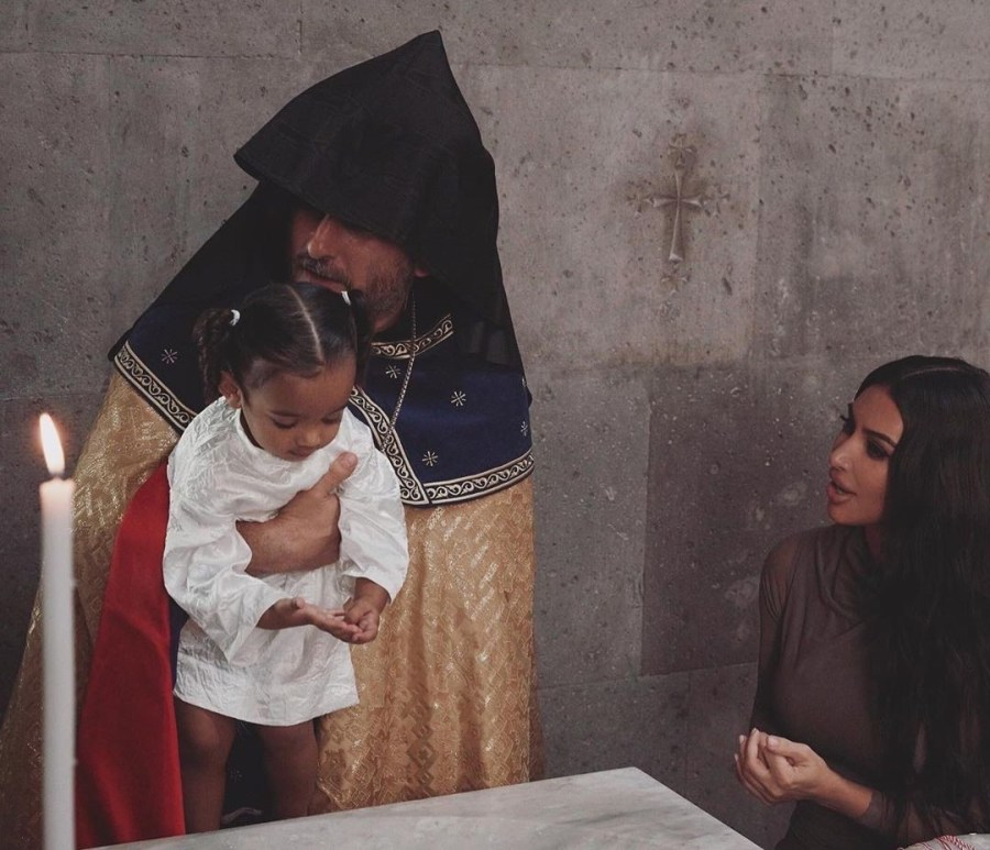 Kim Kardashian And Her Kids Baptized In Armenian Church #3   Her Beauty