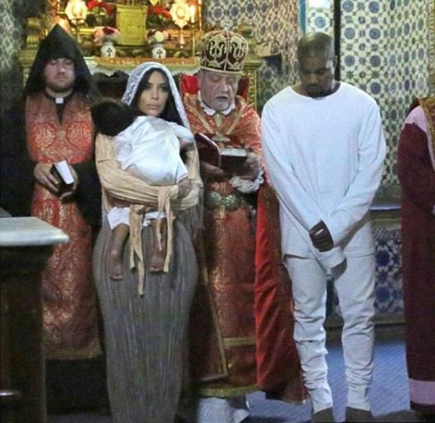 Kim Kardashian And Her Kids Baptized In Armenian Church #10   Her Beauty