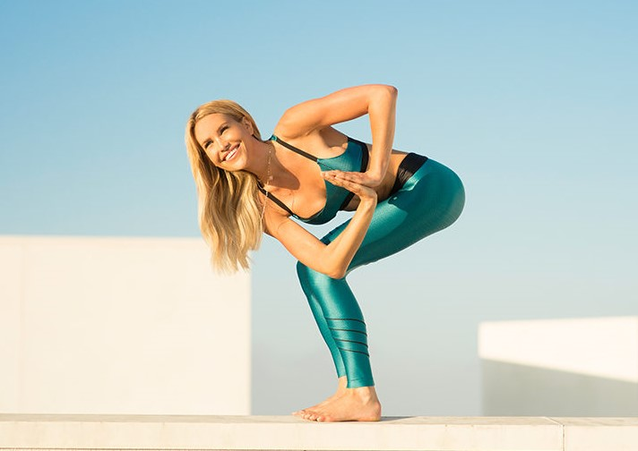 Twisted chair   15 Morning Yoga Poses For Beginners   Her Beauty