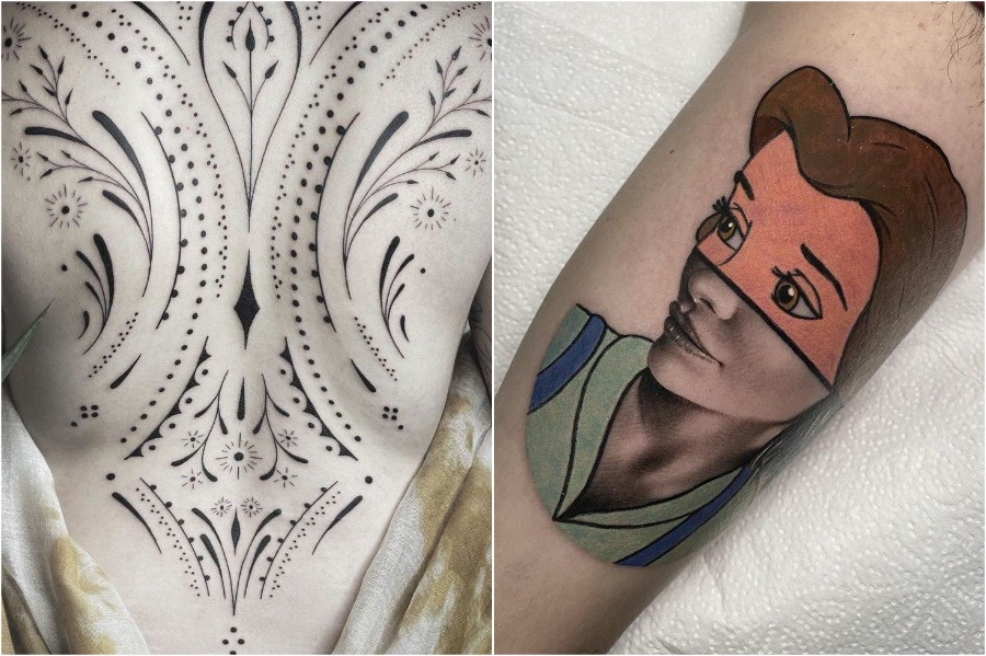 5. Blending Styles | Tattoo Trends That Are On The Rise In 2020 | Brain Berries