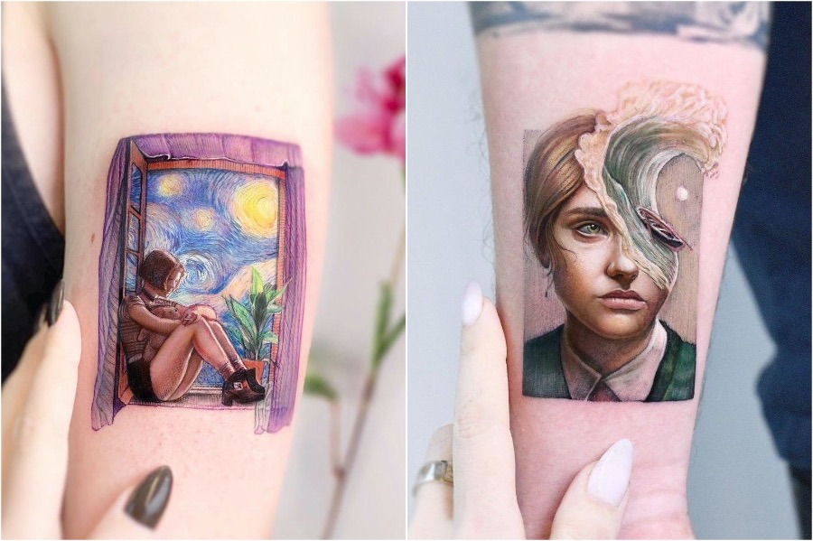 7. Illustrative Realism | Tattoo Trends That Are On The Rise In 2020 | Brain Berries