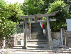 安居神社の階段