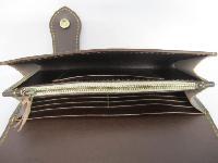 三折りロングウォレット(革財布)