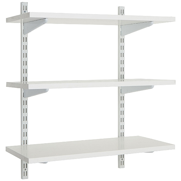 Office Wall Mounted Shelving Kit In White Office Shelving