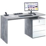 Vesta Concrete Grey Laptop Desk Home Computer Desks