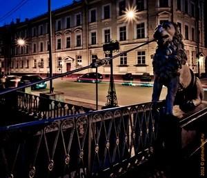 Мост, улица, фонарь, АптекА...
