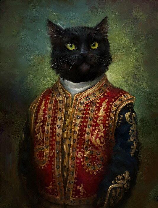 Коты Эрмитажа. Шикарные открытки Эльдара Закирова