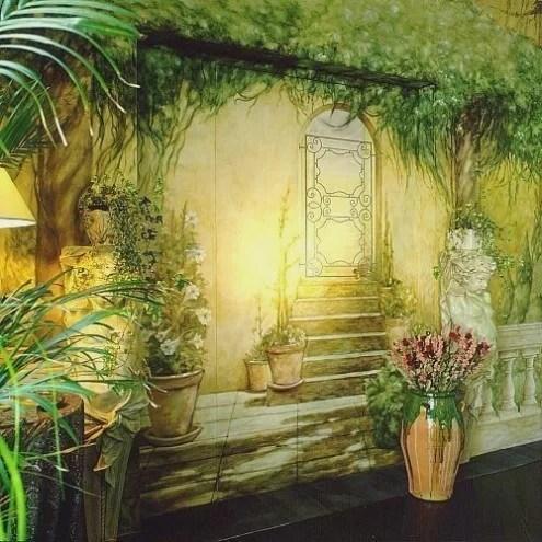 зелень-настенная живопись