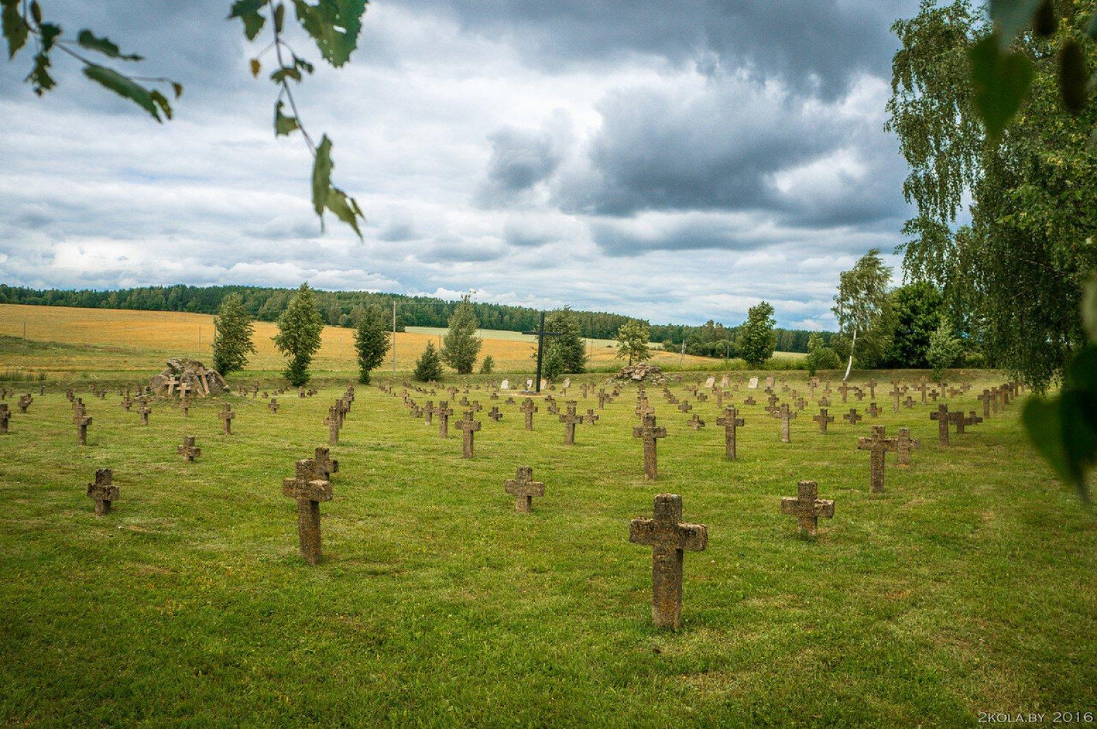 Кладбище солдат 1-й мировой войны. Боруны.