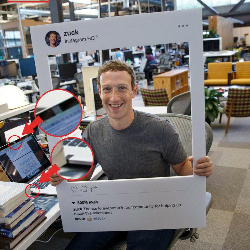 Марк Цукерберг, руководитель компании Facebook, заклеивает скотчем не только камеру ноутбука, но и микрофон