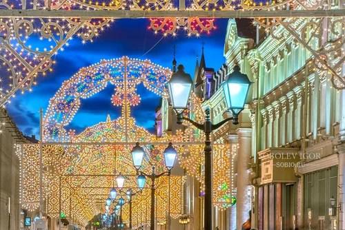 Новогодняя иллюминация на Никольской улице
