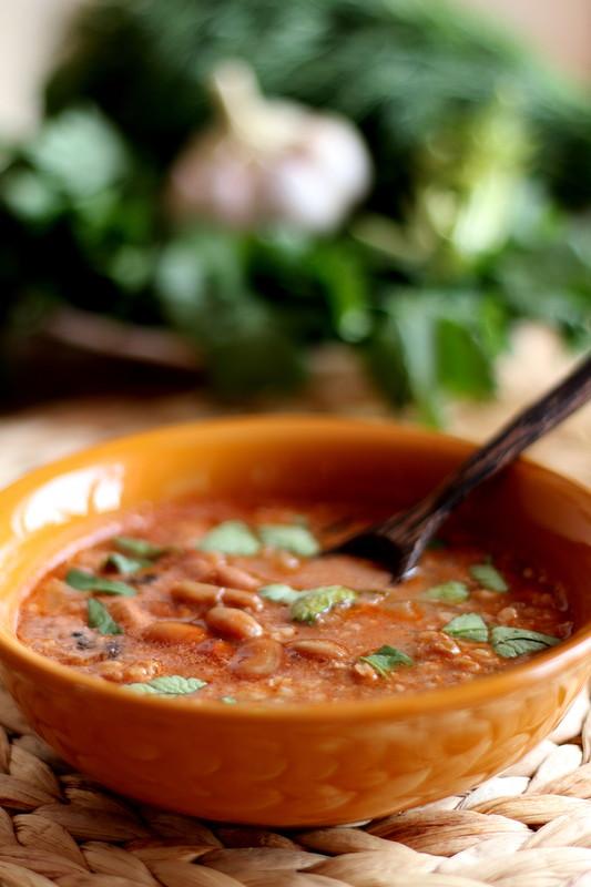 Дэшхолэпс (суп с фасолью и орехами)