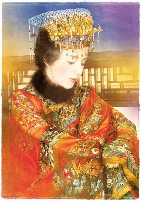 Прекрасные портреты китаянок в работах тайваньской художницы (Der Jen)