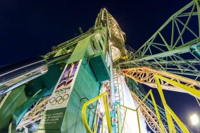 Олимпийский огонь улетел в космос