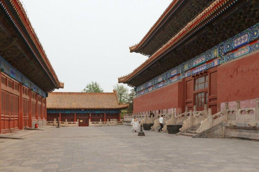 Зал Покоя, Зал Жертвоприношений, Храм Императорских Предков Таймяо, Пекин