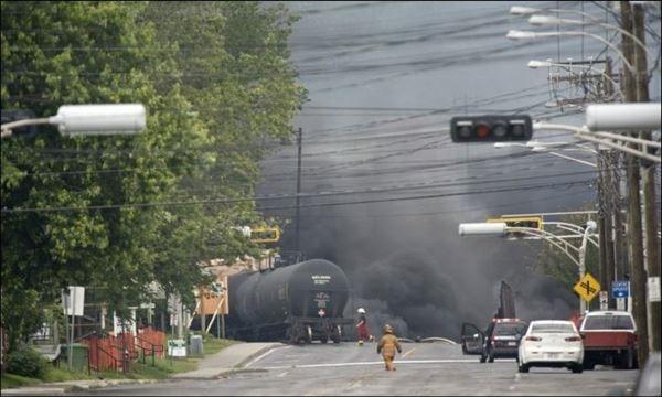 Крушение поезда в Квебеке   ужасная катастрофа!