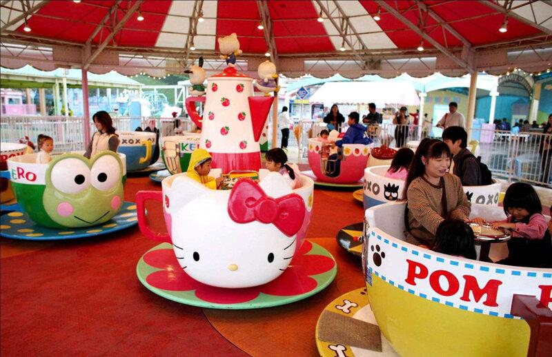 В Китае открылся тематический парк развлечений Hello Kitty