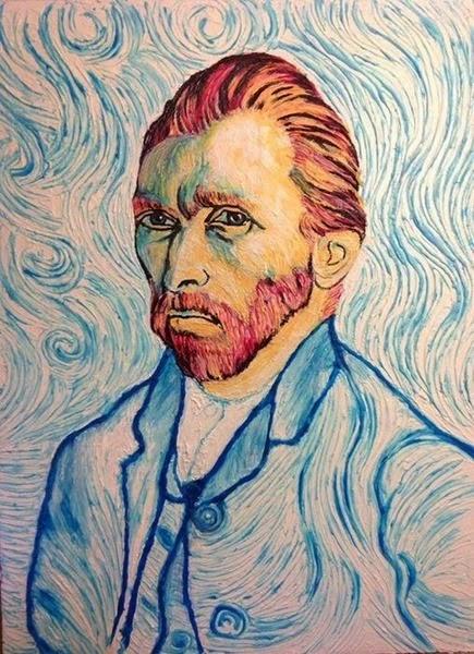 Портреты знаменитостей, написанные зубной пастой