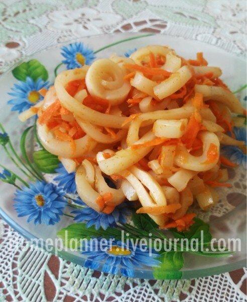 Салат Оранжевый кальмар