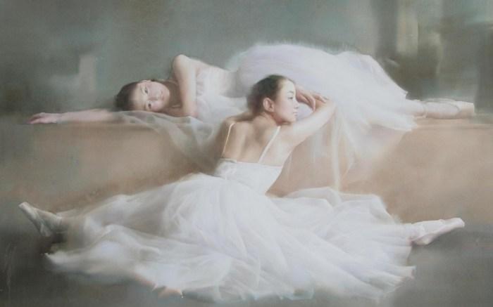 Нежные акварельные картины Лю Йи