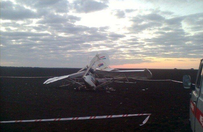 Фото и видео с места падения самолета в Рязанской области