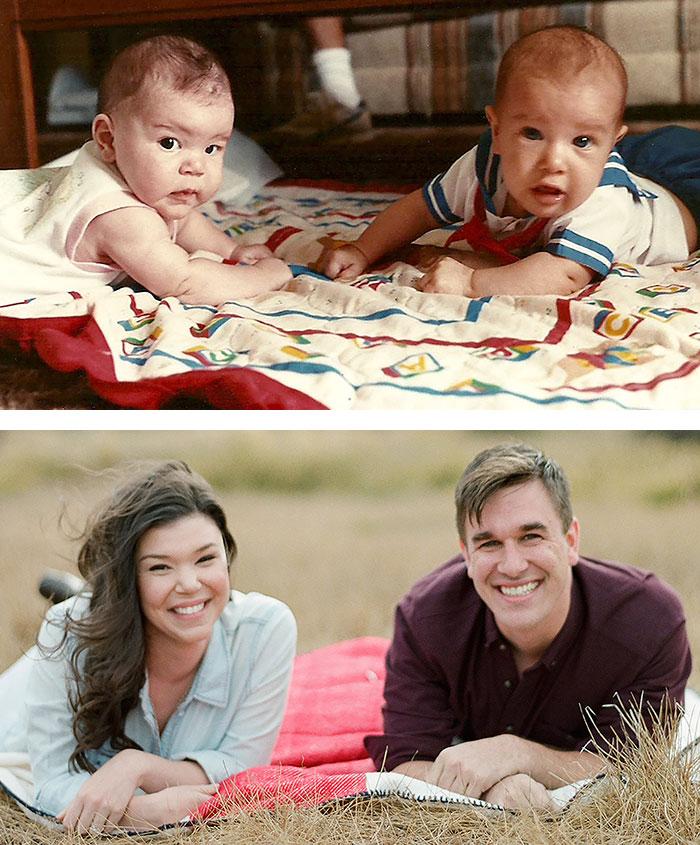 Обри и Майк родились в 1989 году с разницей в 11 дней. В 2012 году они начали встречаться, а три года спустя поженились.