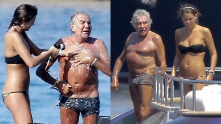 Роберто Кавалли и Лина Нильсон - разница в возрасте 47 лет