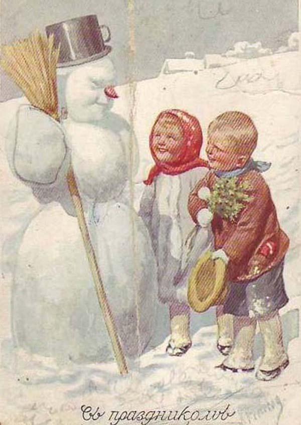 статусе телезвезды, старые новогодние открытки царских времен ночь