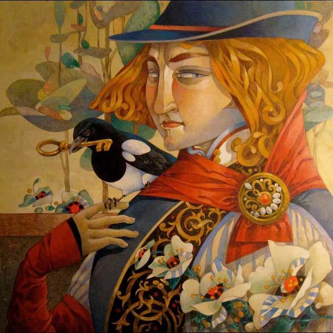 Дэвид Галчутт. Яркий сказочный мир.