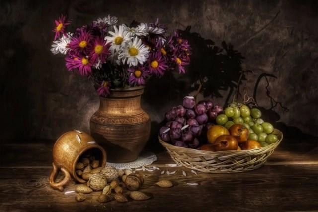 Фотографии: натюрморты с орехами