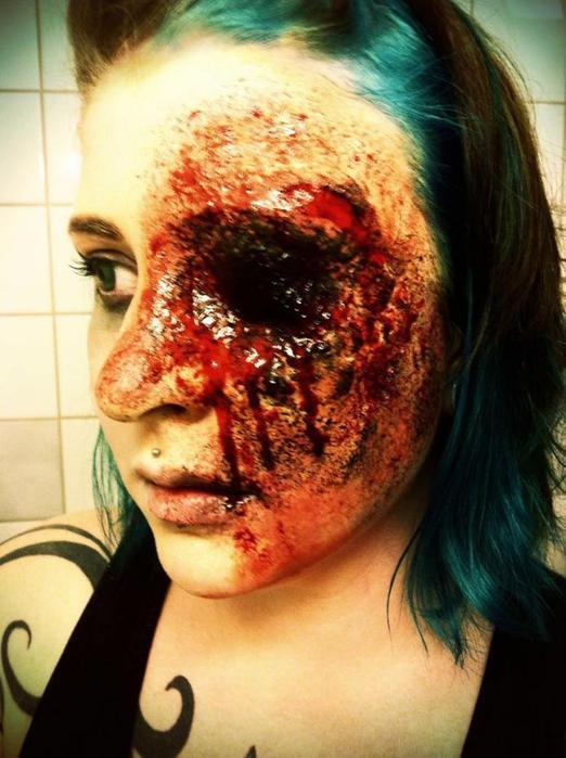 Самый жуткий макияж на Хэллоуин: фотографии