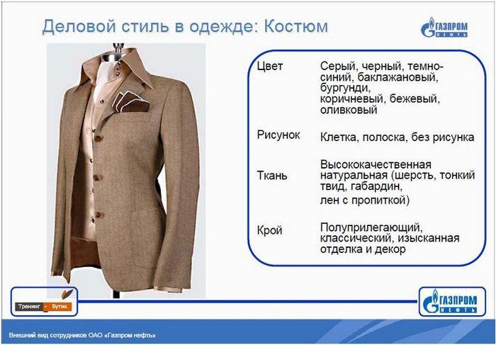 Дресс код от Газпрома (17 страниц приложения к приказу о внешнем виде)