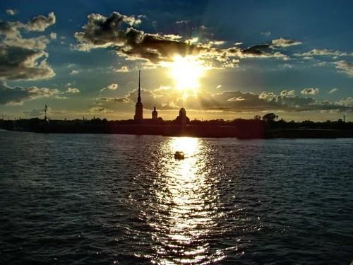 закат  над  Невой