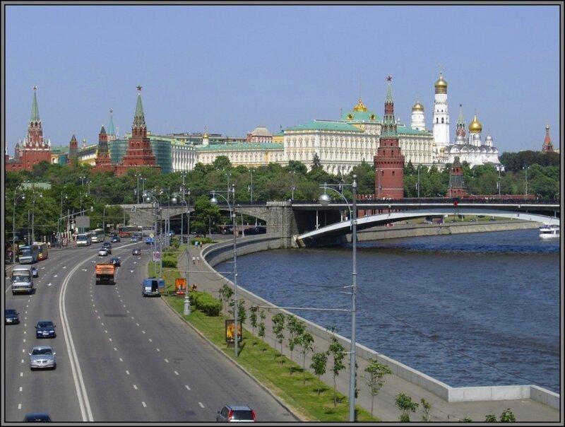 Москва-река и Московский Кремль